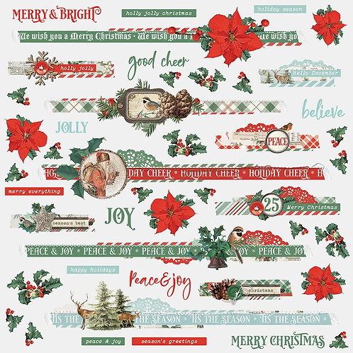 Country Christmas Border Stickers
