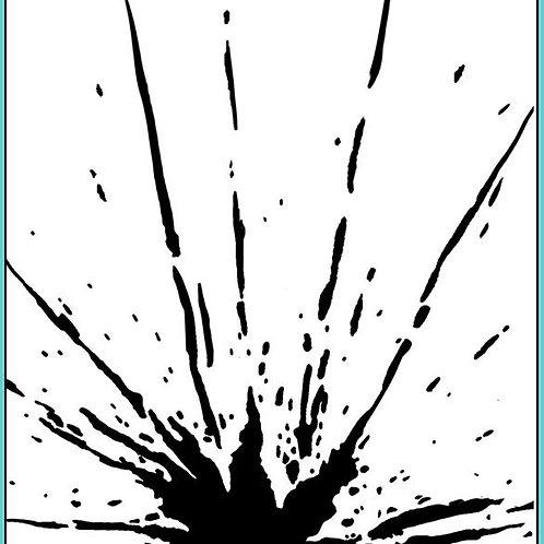 Graffiti Grunge  - Grungy Splat Stencil A5