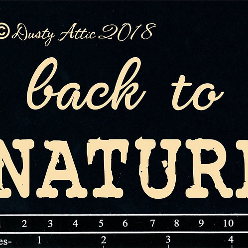 Dusty Attic -Back to Nature