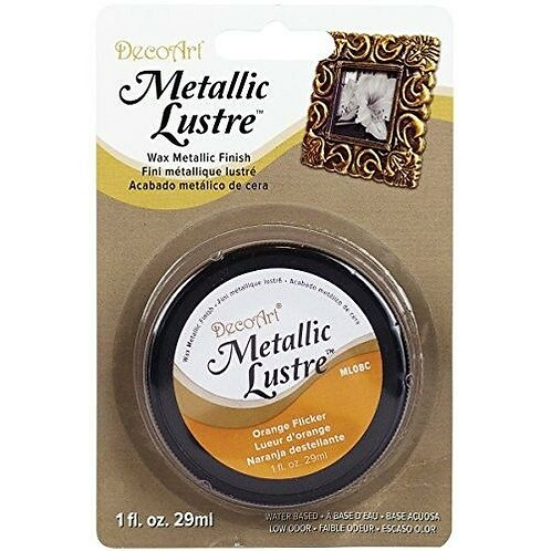 Metallic Lustre - Orange Flicker wax