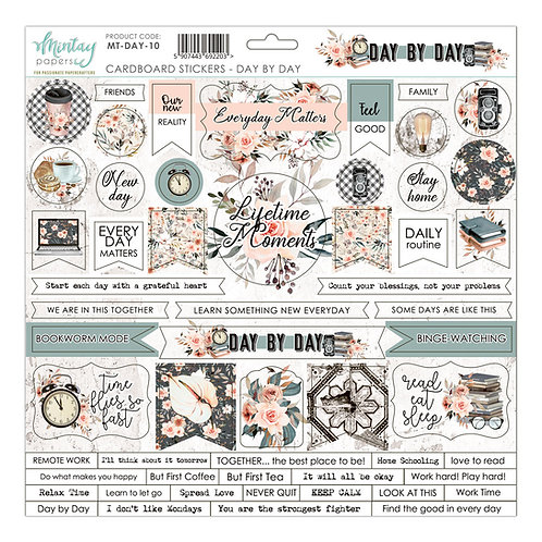 Day By Day cardstock sticker sheet