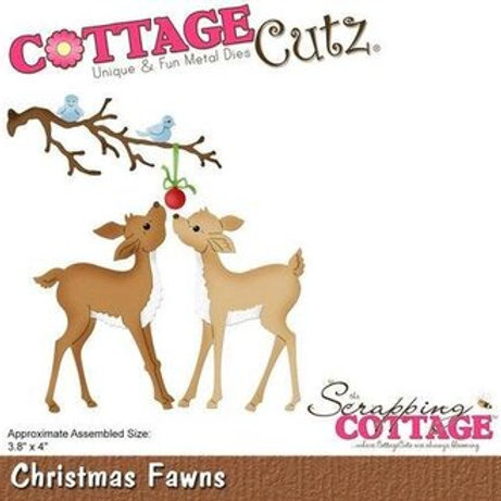 Cottage Cutz -Christmas Fawns