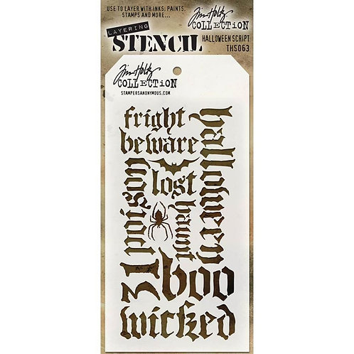 Halloween Script Stencil