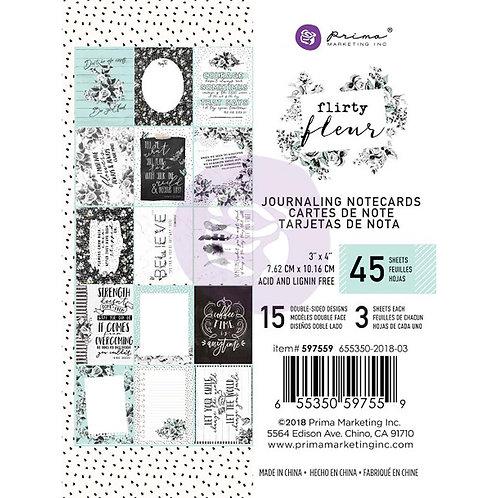 Flirty Fleur -Journal notecards