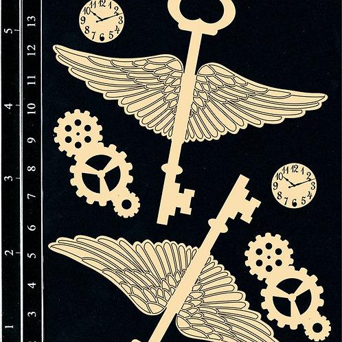 Dusty Attic -Winged Keys