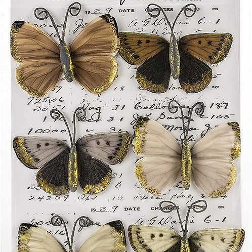 Pretty Pale  - Butterflies with foil accent