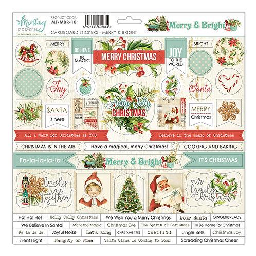 Merry & Bright cardstock sticker sheet