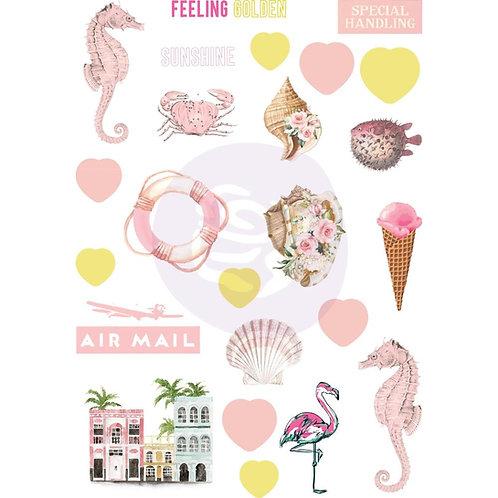 Golden Coast puffy Stickers