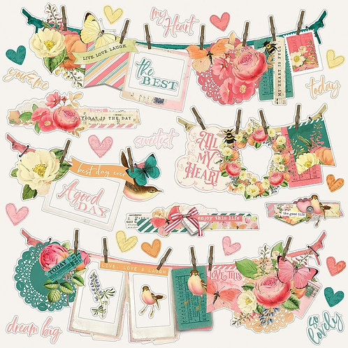 Vintage Garden District Banners - sticker sheet