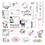 Thumbnail: Poetic Rose -Ephemera & Stickers