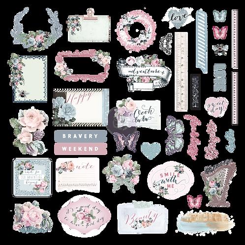 Poetic Rose -Ephemera & Stickers