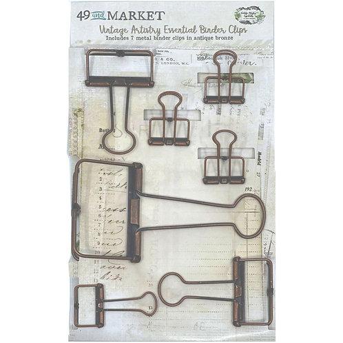 Essentials Binder Clips Antique Bronze