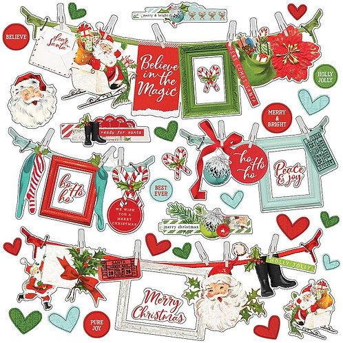 North Pole Banner Stickers