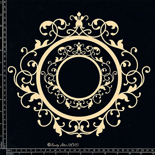 Dusty Attic-Ornate Frame 12""