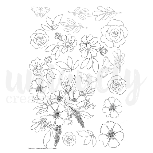 Urban Garden- A4 Watercolour sheet