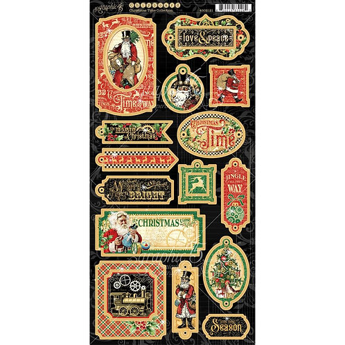 Christmas Time chipboard stickers