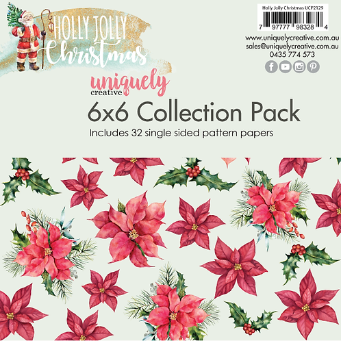 """Holly Jolly Christmas  6"""" Collection pad"""