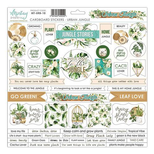 Urban Jungle cardstock sticker sheet
