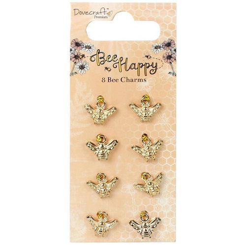 Bee Happy Metal Charms