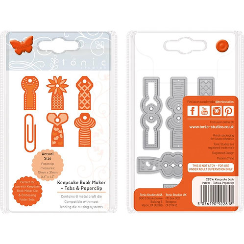 Keepsake Book Maker - Tabs & Paperclip