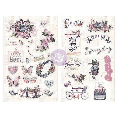 Lavender Chipboard Stickers