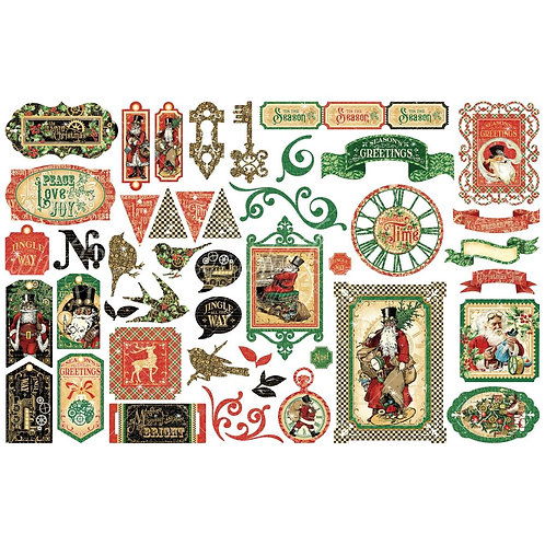 Christmas Time die cut pieces