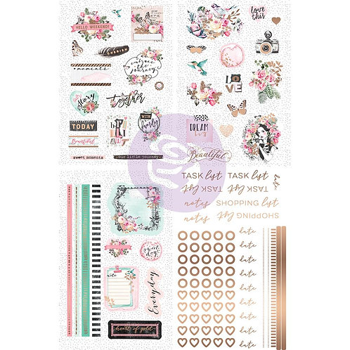 Havana Cardstock Stickers with Foil Accents