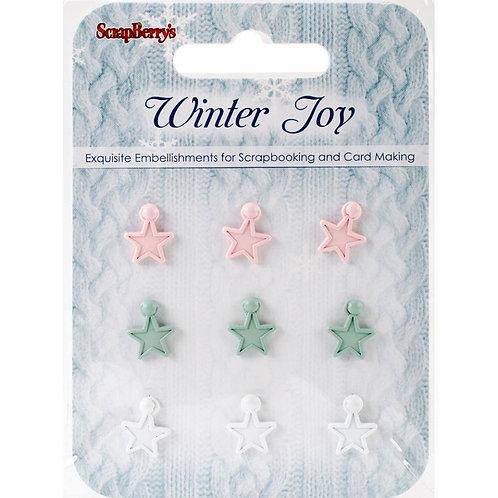 Set of stars Winter Joy, 9 pcs