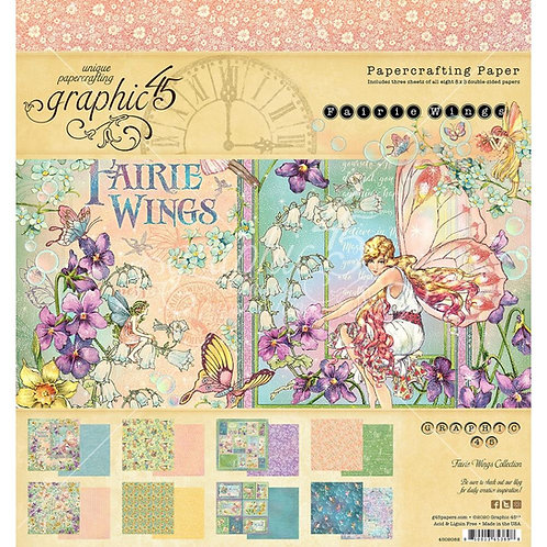 """Fairie Wings  8"""" paper collection"""
