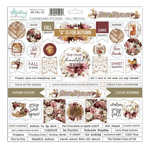 Fall Festival cardstock sticker sheet