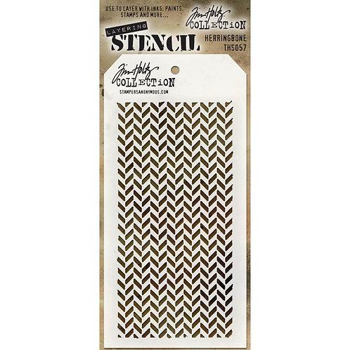 Herringbone Stencil