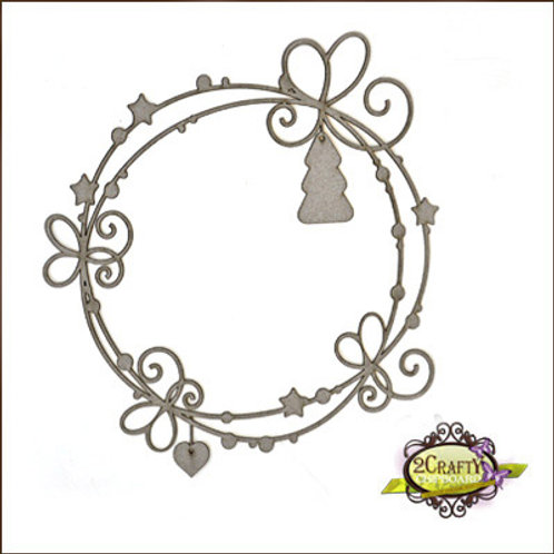 """2Crafty - 11"""" Whispy Christmas Page Frame"""