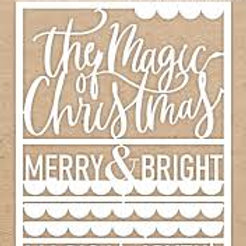 Celebr8 - The Magic Of Christmas chipboard