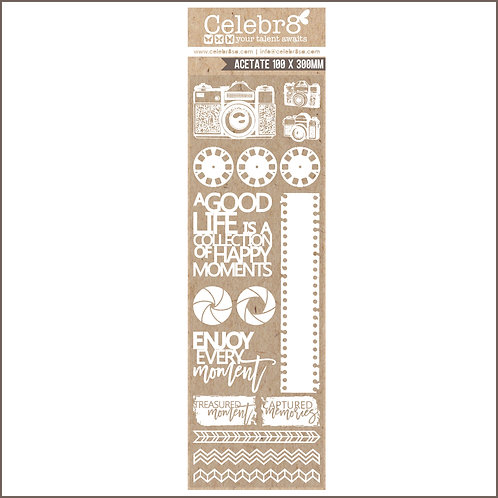 Celebr8 - CLEAR ACETATE / WHITE PRINT - PHOTO BOOTH