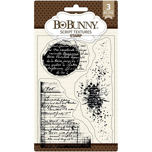 """BoBunny Clear Stamps 4""""X6"""" - Script Texture"""