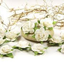 Prima Flowers Fairytale Roses French White