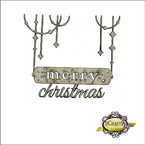 Dangling Christmas Sign