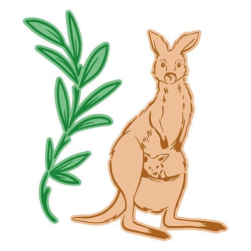 Sweeping Plains Mini Kangaroo die and stamp