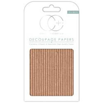 Corrugated Textured Board Decoupage  paper