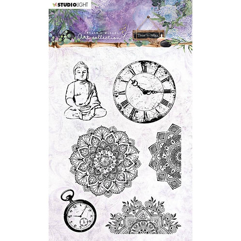 Jenine's Mindful Art Time To Relax Stamps NR.17