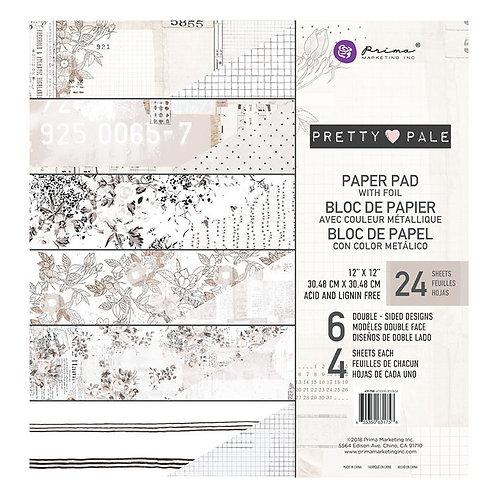 "Pretty Pale  - 12"" paper pad"