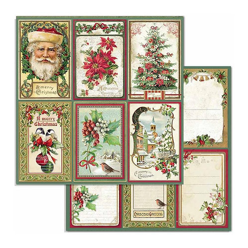 "Cards, Classic Christmas SBB703 12"" paper"