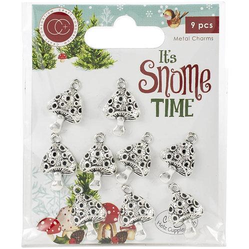 It's Snome Time Metal Charms 9/Pkg