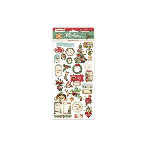 Classic Christmas Chipboard Stickers