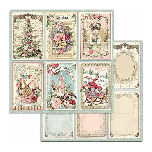 """Cards, Pink Christmas SBB702 12"""" paper"""