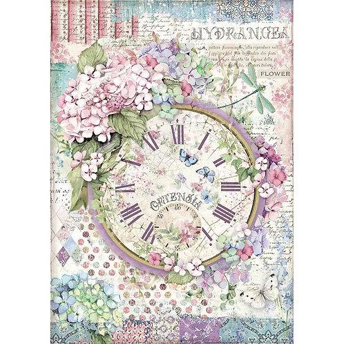 Clock, Hortensia