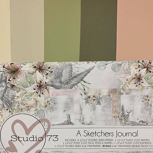 A Sketchers Journal  Collection Cardstock Set