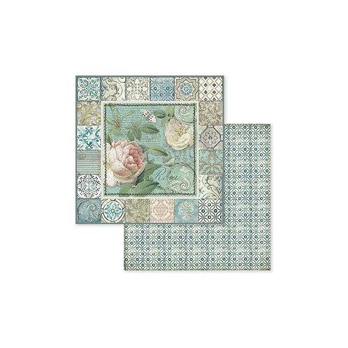Azulejo Frame W/Rose