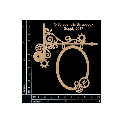 Scrapaholic - Steampunk Hanging Sign