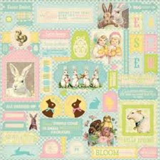 Authentique -Springtime Sticker sheet